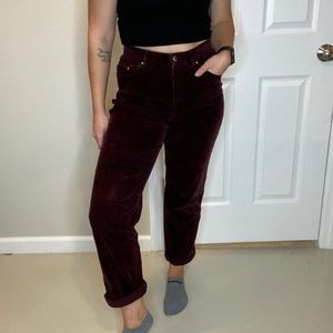 Lauren Jeans Co. Maroon Corduroy Pants